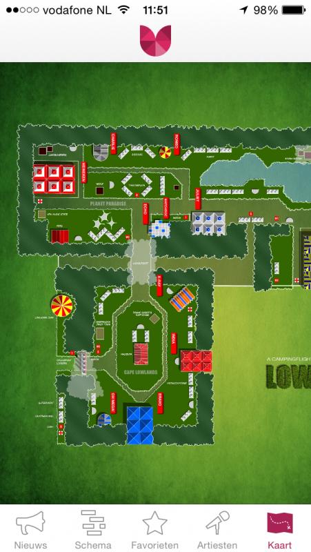 App: de plattegrond